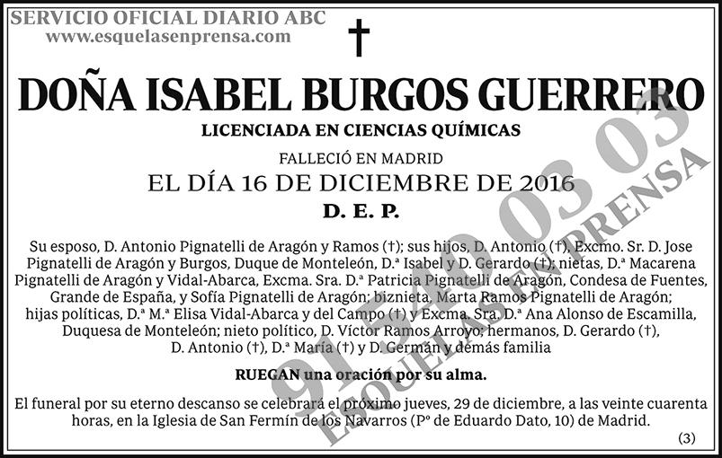 Isabel Burgos Guerrero